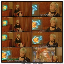 Cyndi Lauper---2007--TV Interview--legs--Japan