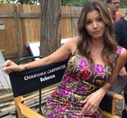 Charisma Carpenter - Twitter Picture On Set of 'The Lying Game' 08-21-2012